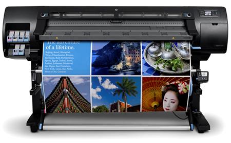 Плоттер HP designjet для широкоформатной латексной печати
