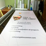 Печать на баннере